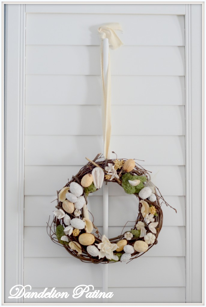 single wreath hanging