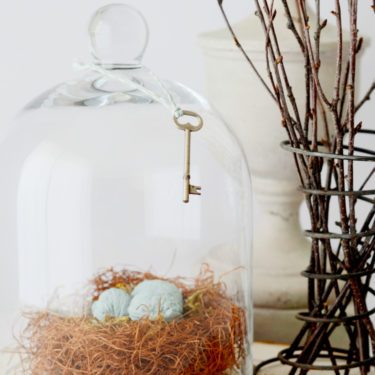bird nest woven with charm