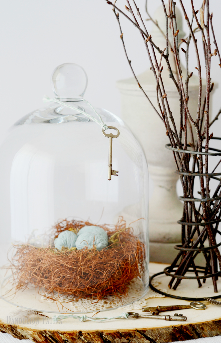 bird nest woven with charm