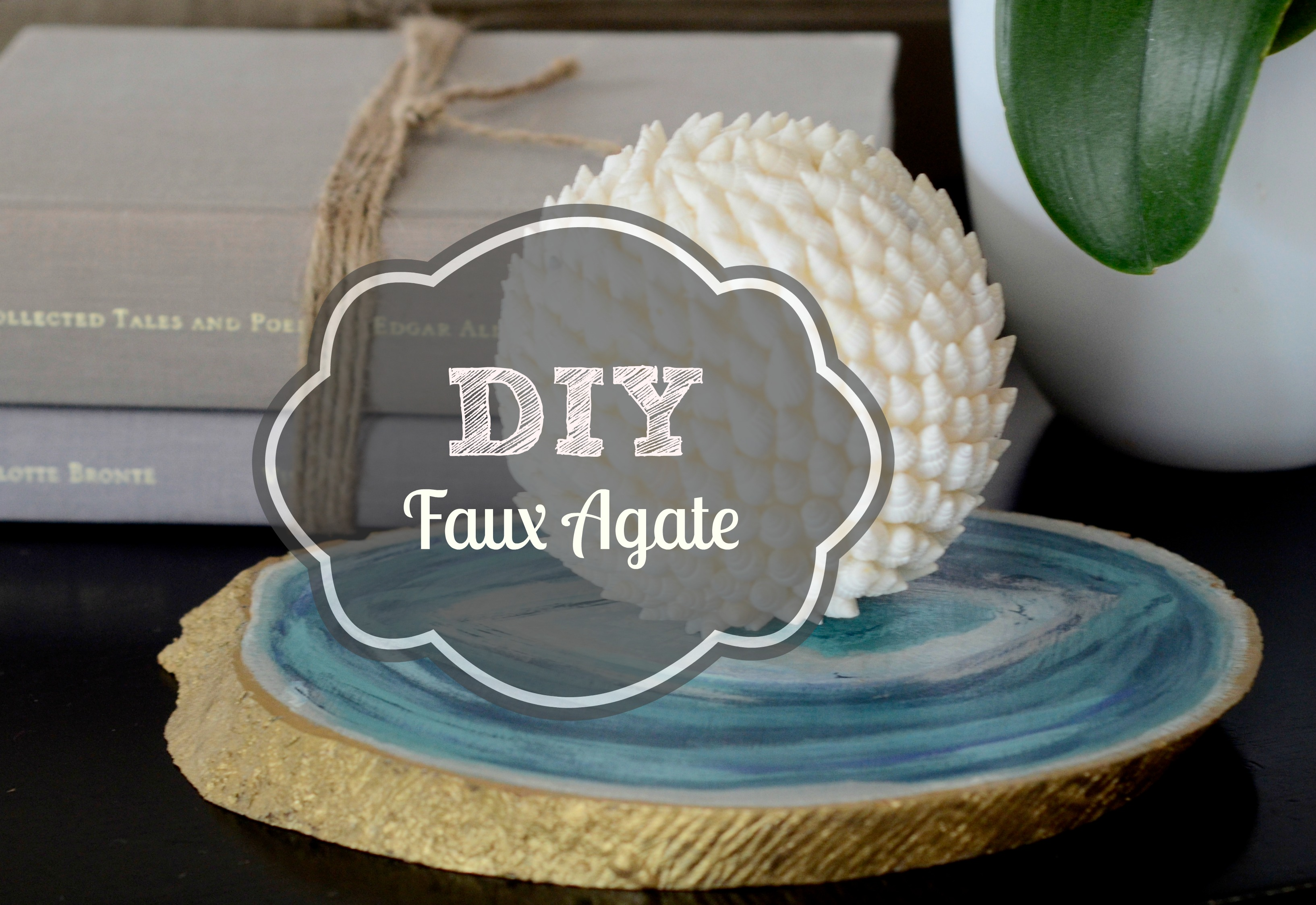 DIY faux agate how to