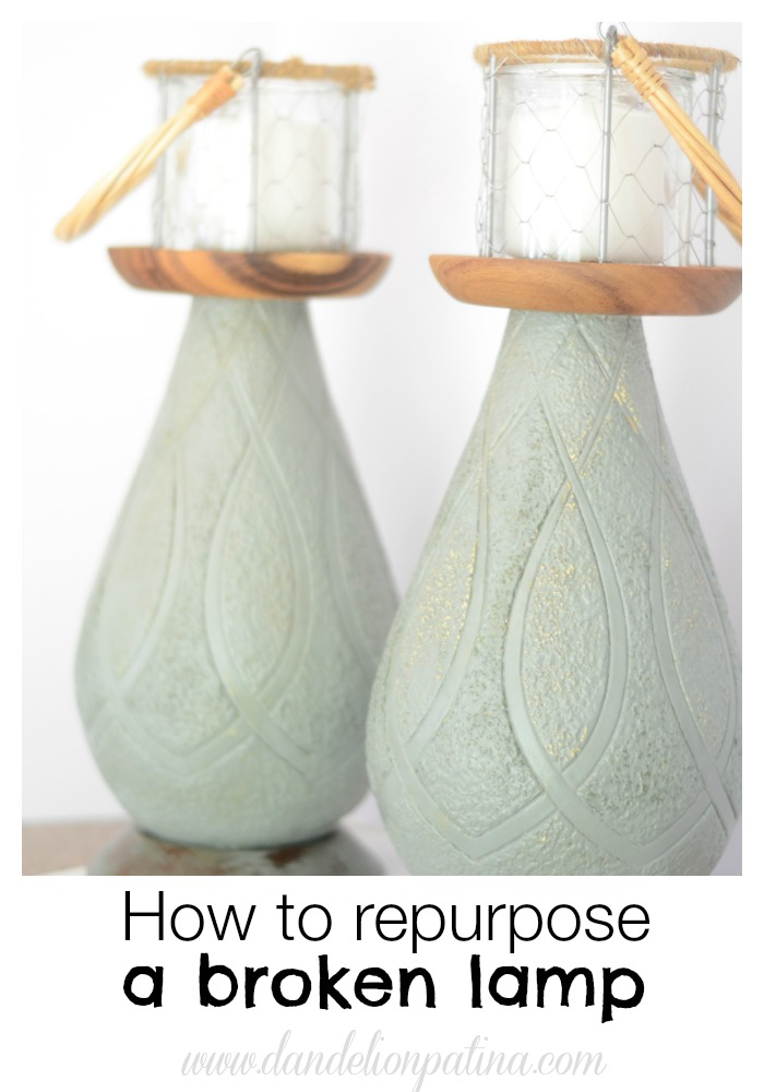 how to repurpose a broken lamp