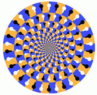 eye illusion of spinning