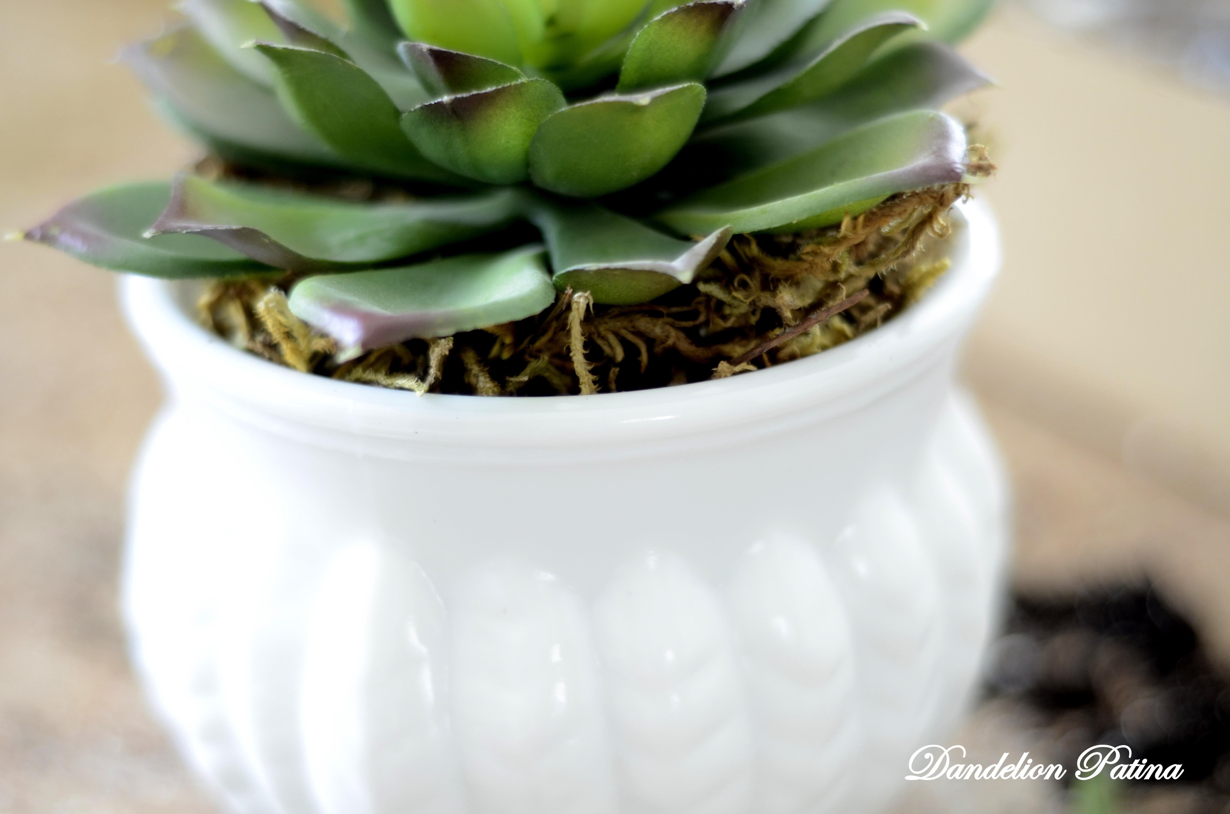 faux succulent by dandelion patina
