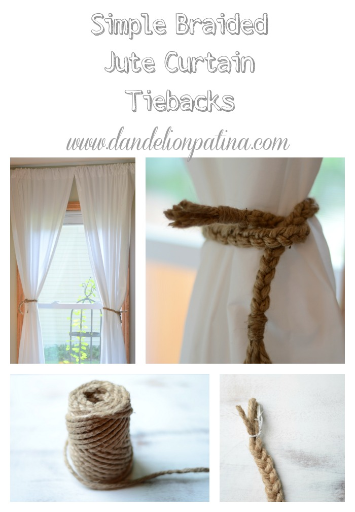 simple braided jute tieback