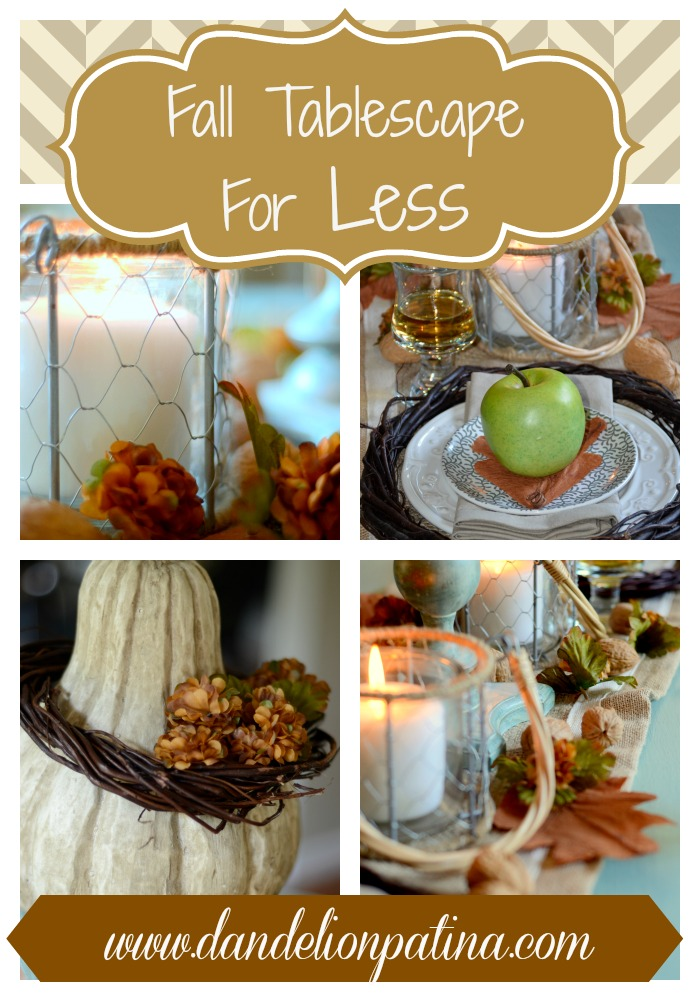 Fall Tablescape For Less Dandelion Patina