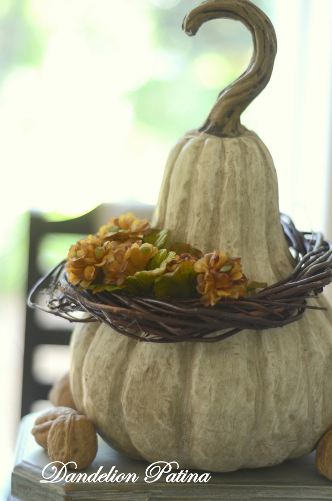 fall tablescape gourd by dandelion patina