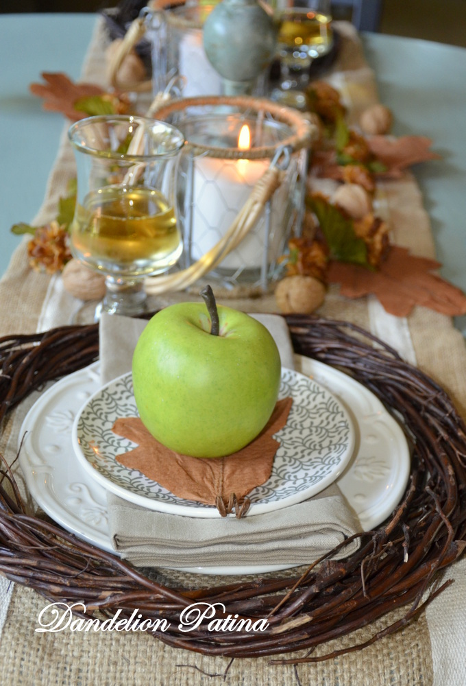 fall tablescape by dandelion patina