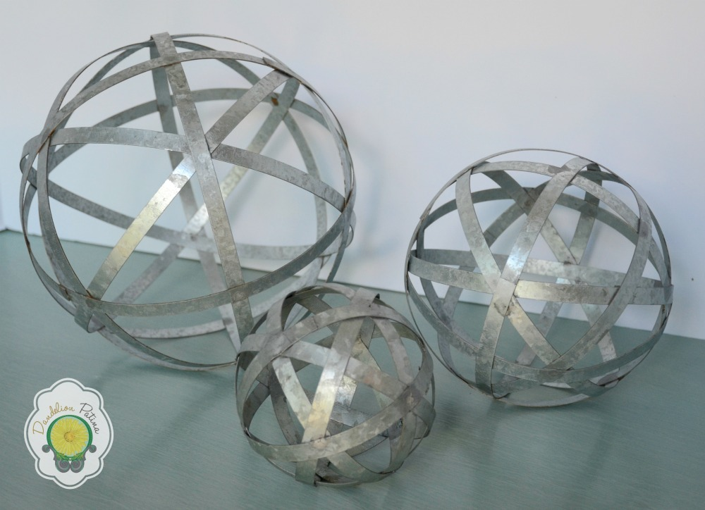 galvanized metal orbs
