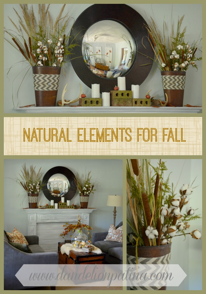natural elements for fall by dandelion patina