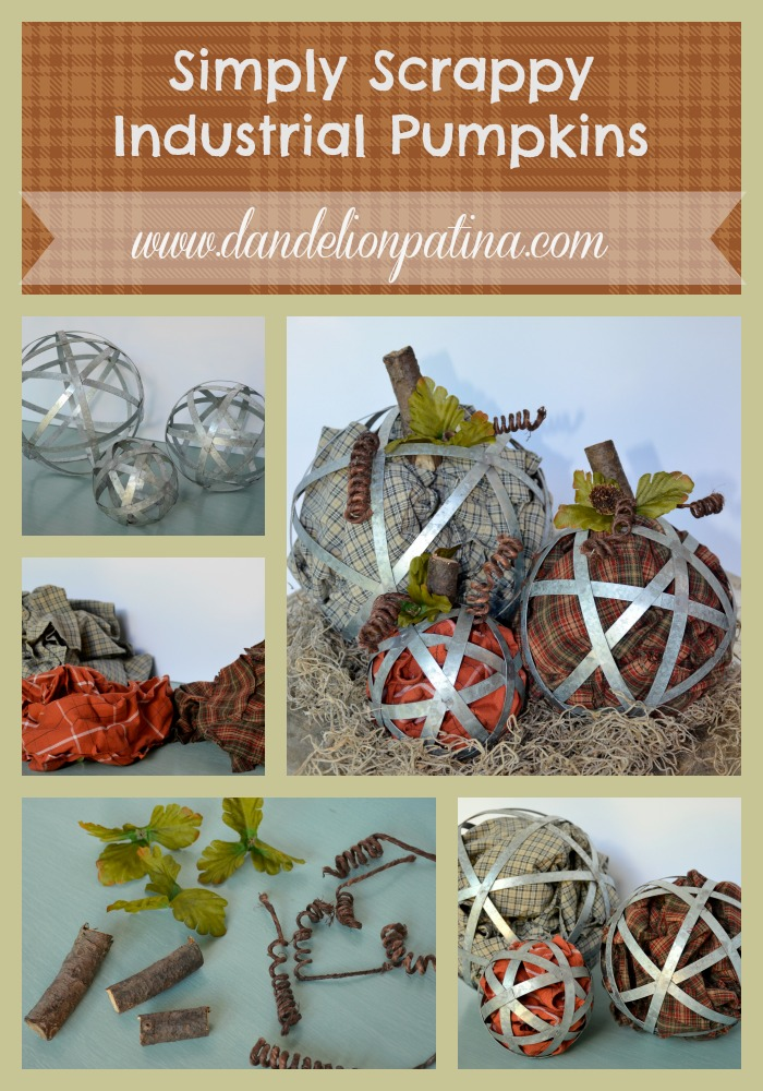 simply scrappy industrial pumpkins
