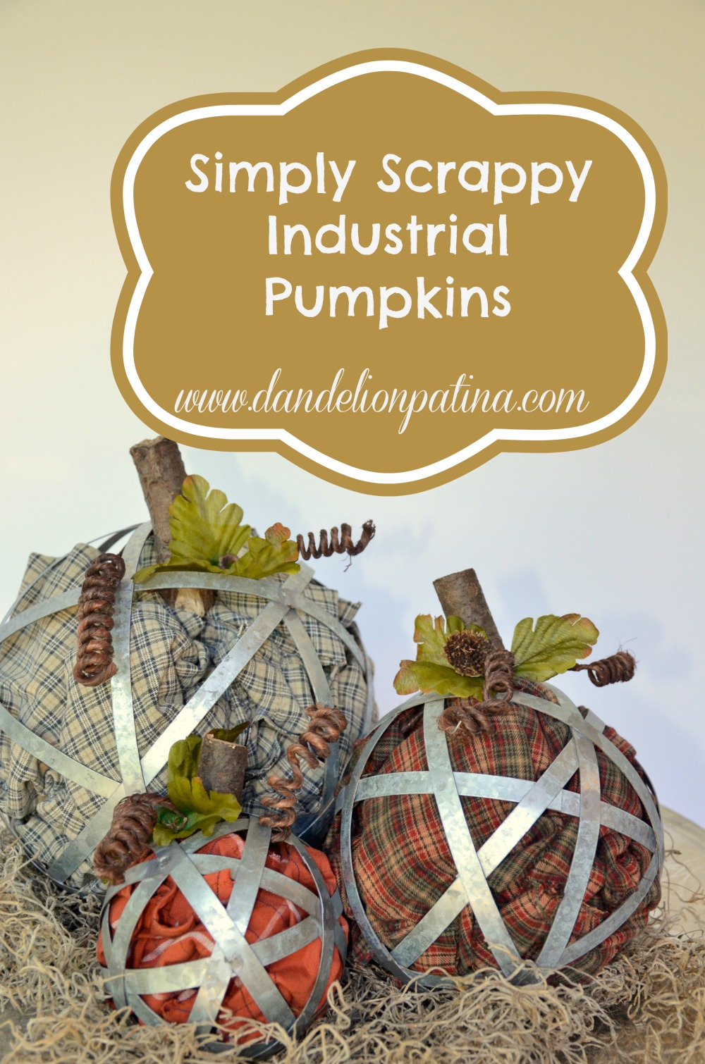simply scrappy industrial pumpkins by dandelion patina