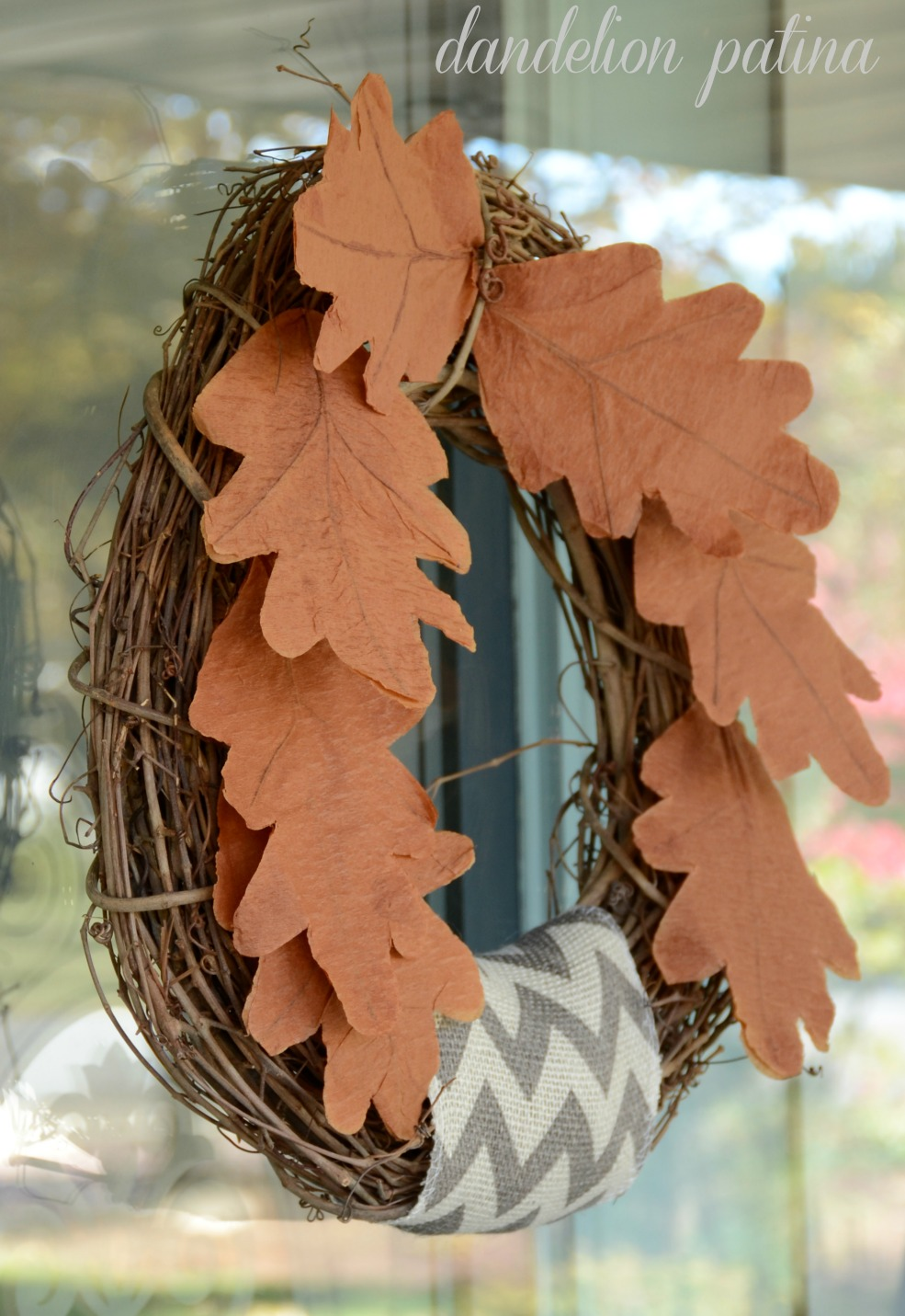 Simple tissue paper leaf wreath