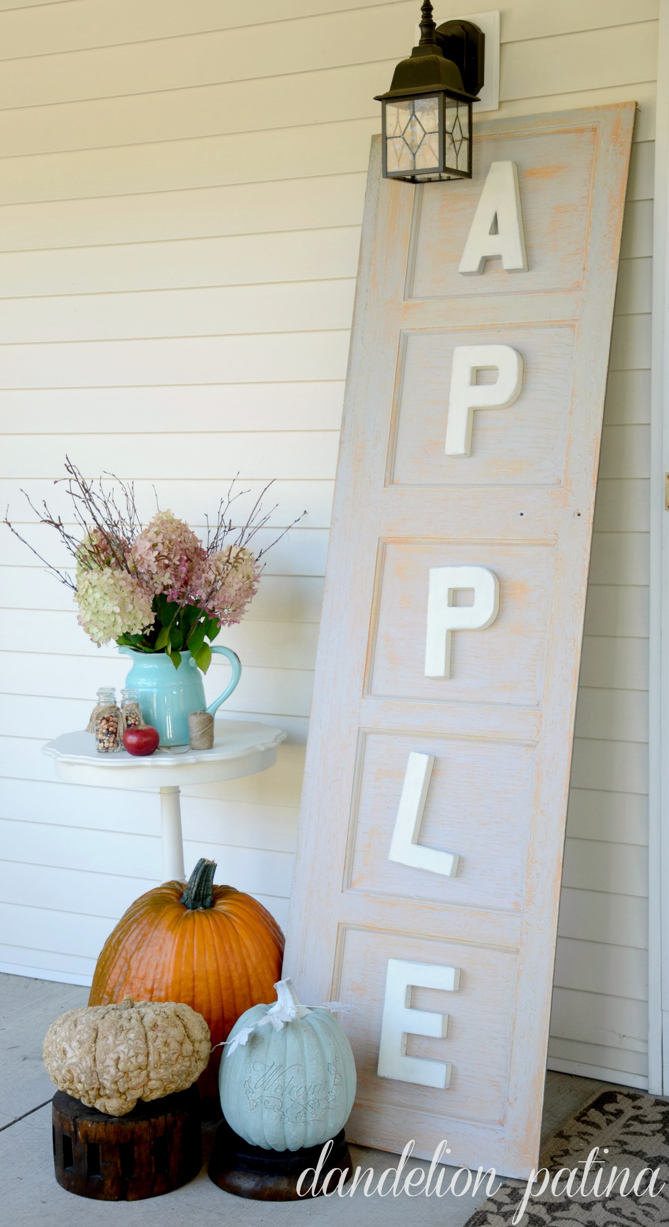 apple cider sign by dandelion patina