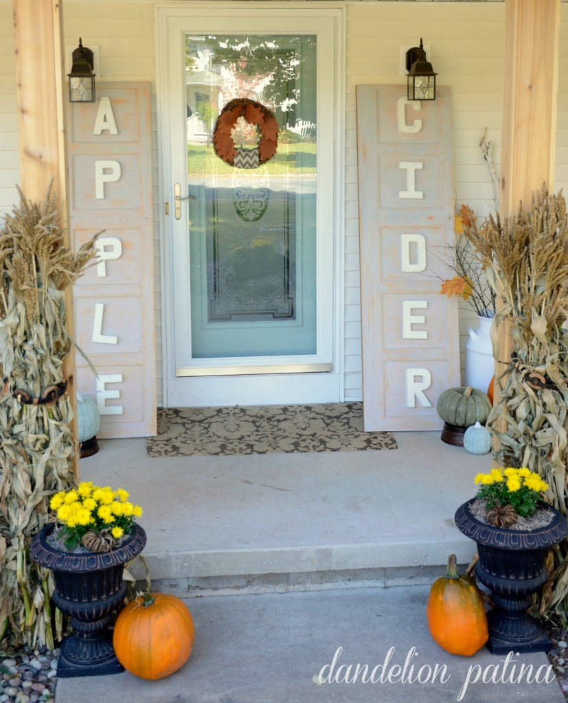 comforts of home fall front porch by dandelion patina