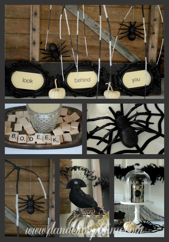 creep and crawl halloween mantel