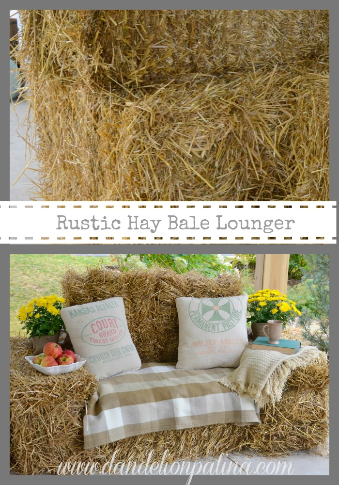rustic hay bale lounger by dandelion patina