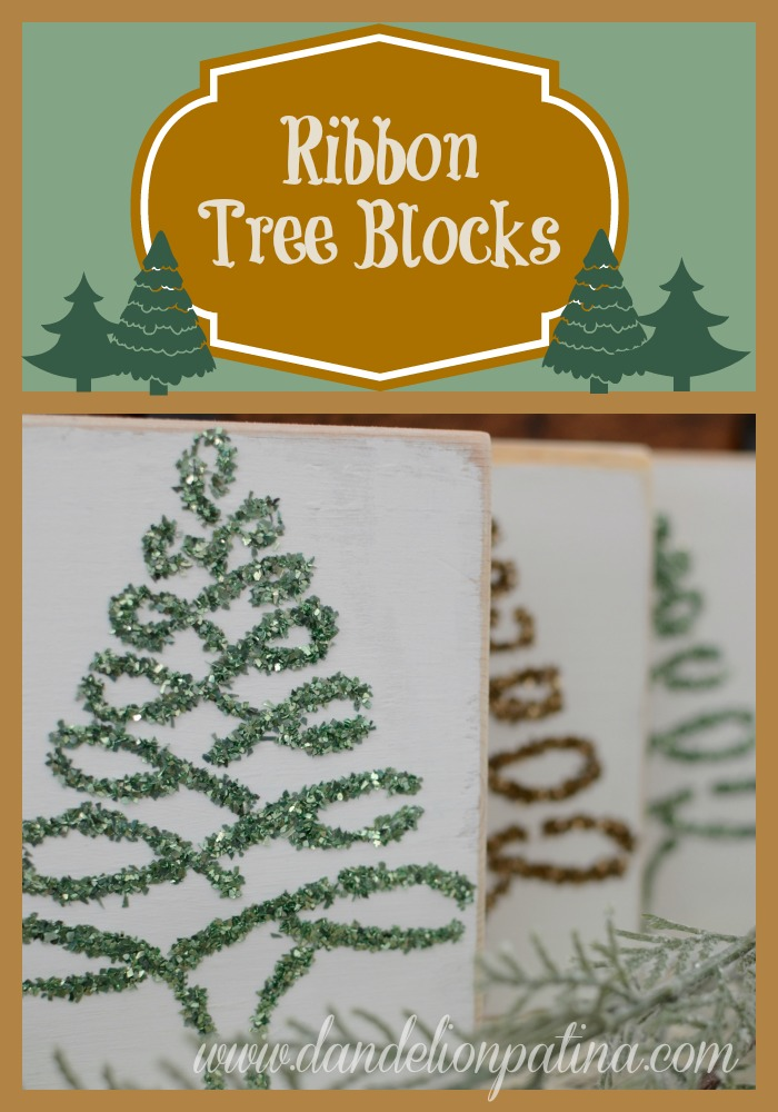 DIY ribbon tree blocks
