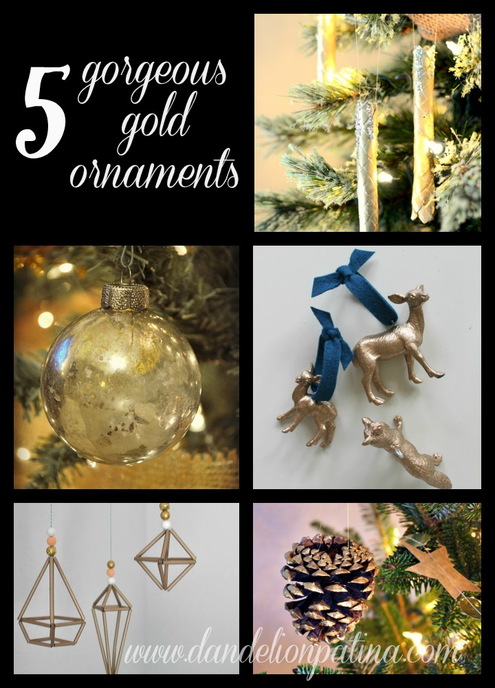 gold DIY ornaments