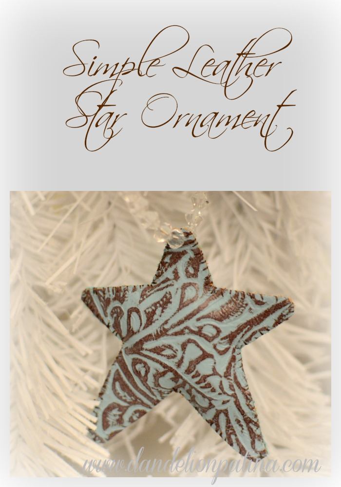 leather star christmas ornament