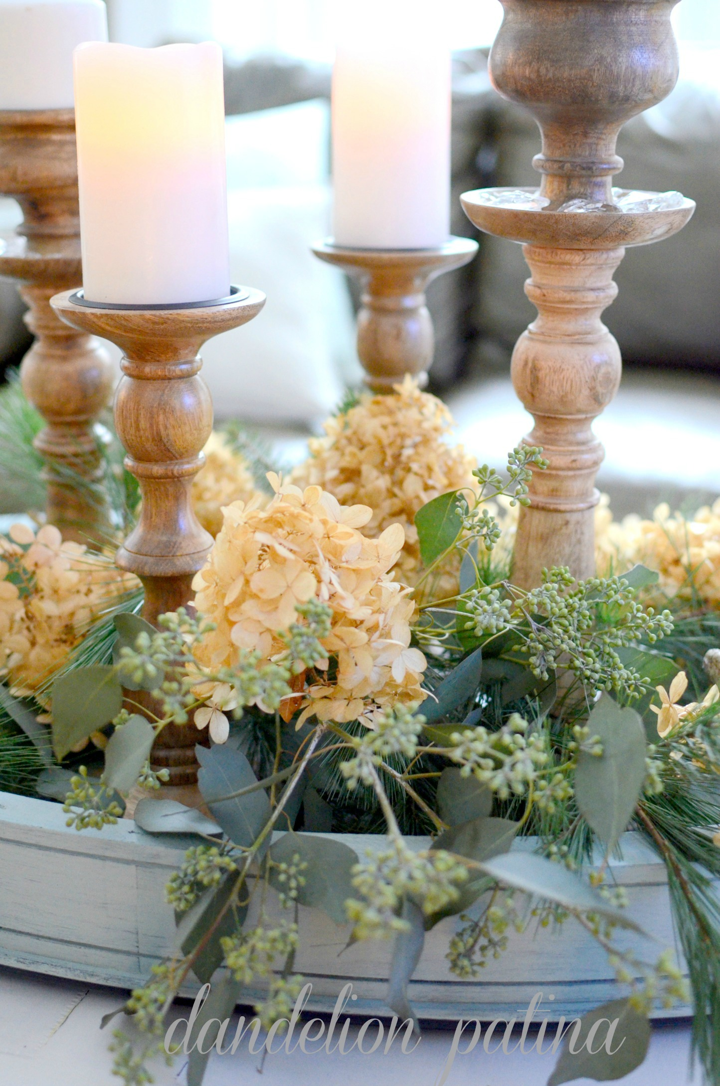 centerpiece with candleholders