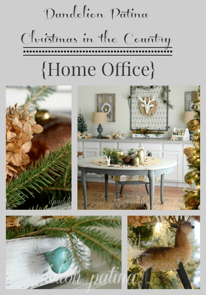 christmas in the country home office