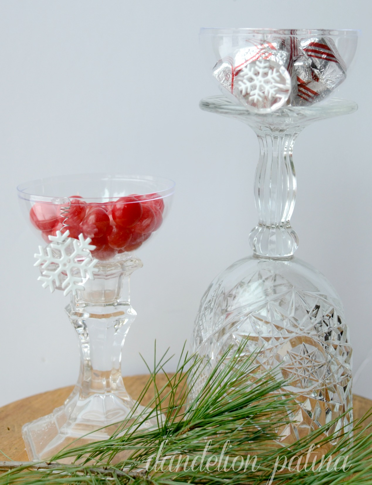 clear ornament candy bowl