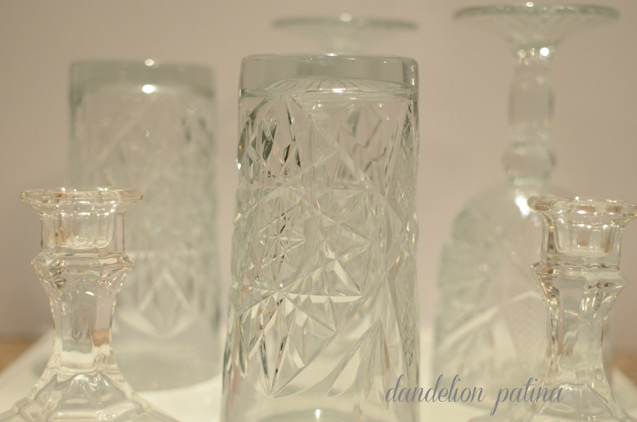 glassware  for holiday candy bar