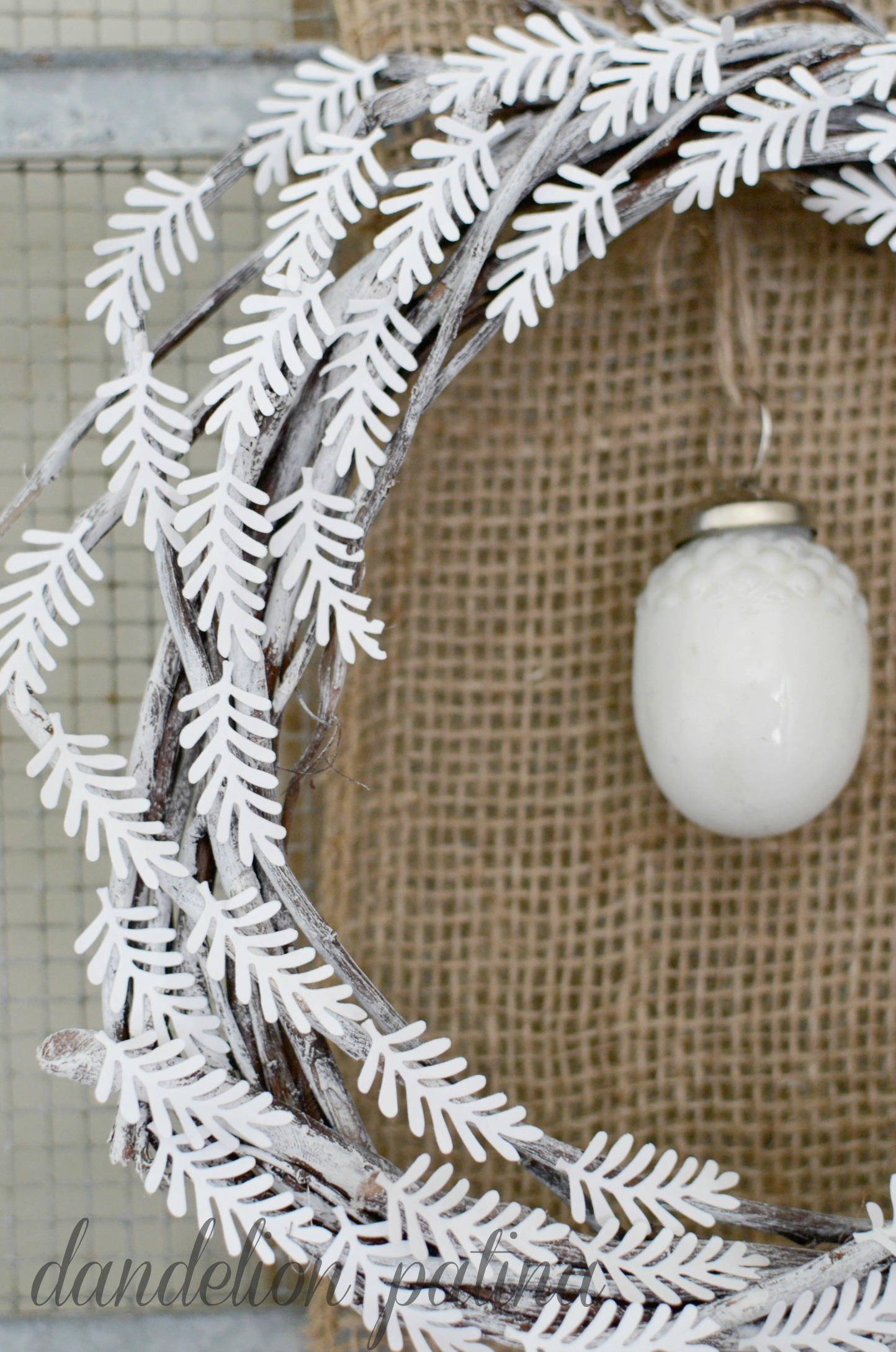 white wreath craft