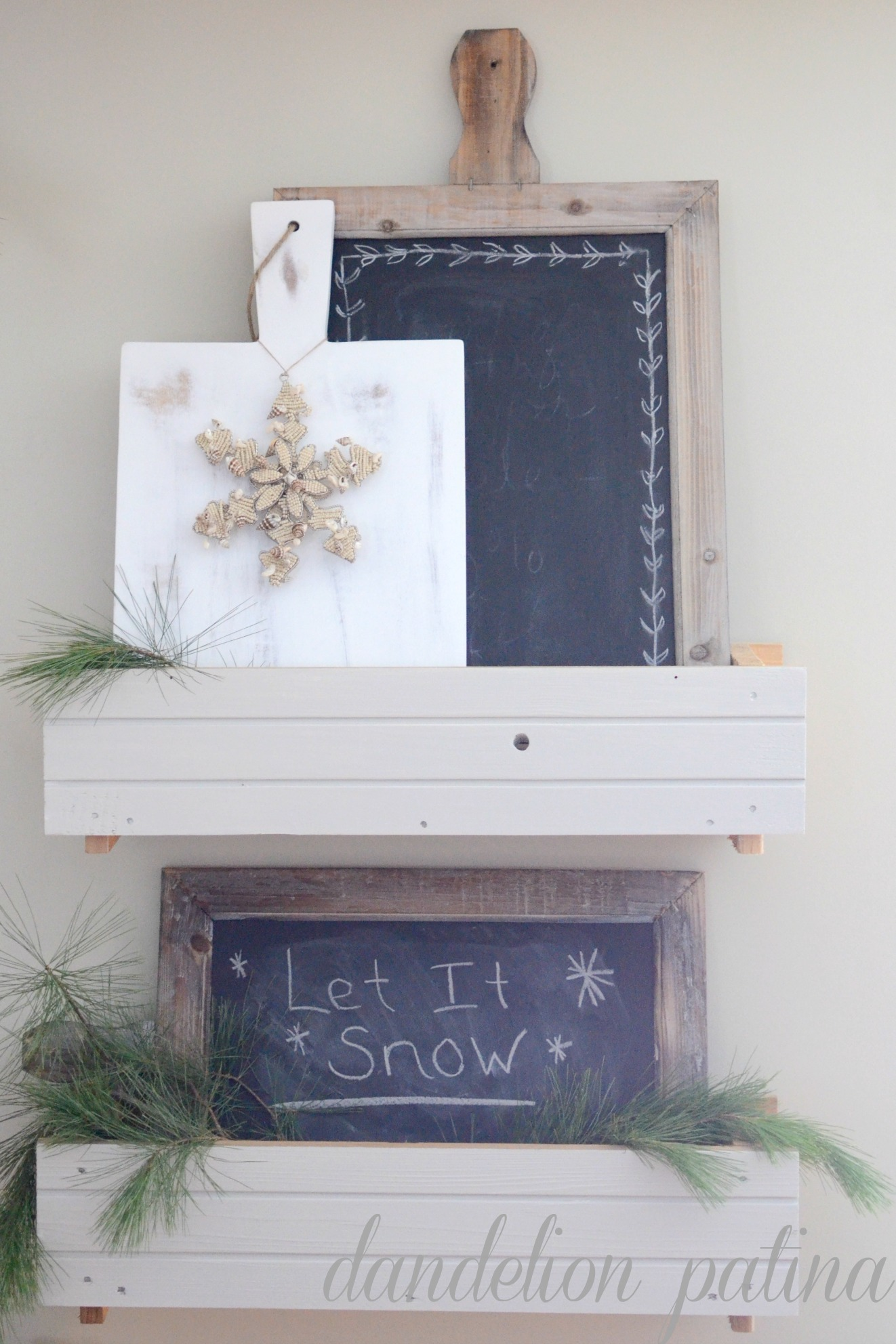 let it snow chalkboard sign