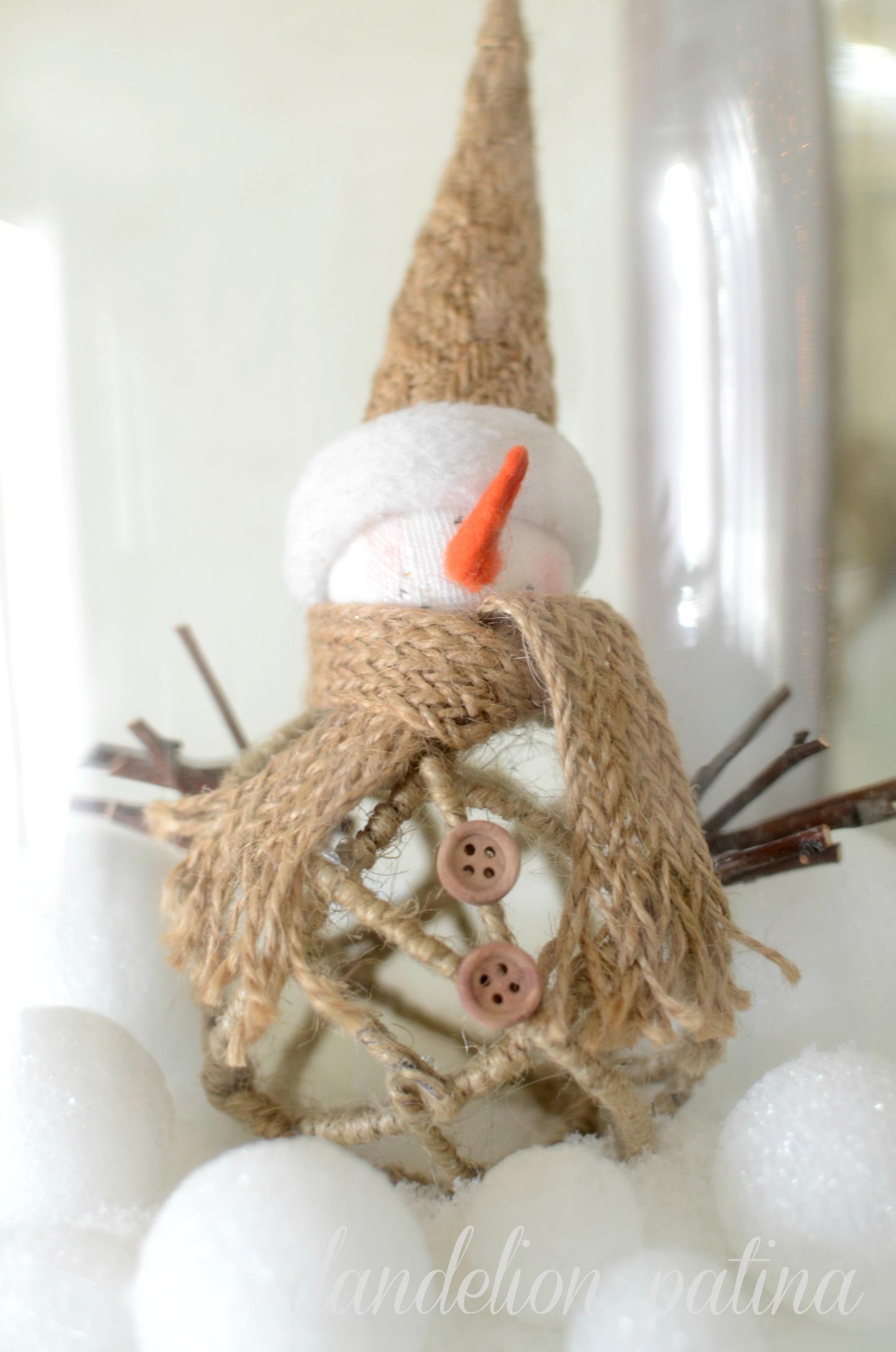 snowman rustic jute