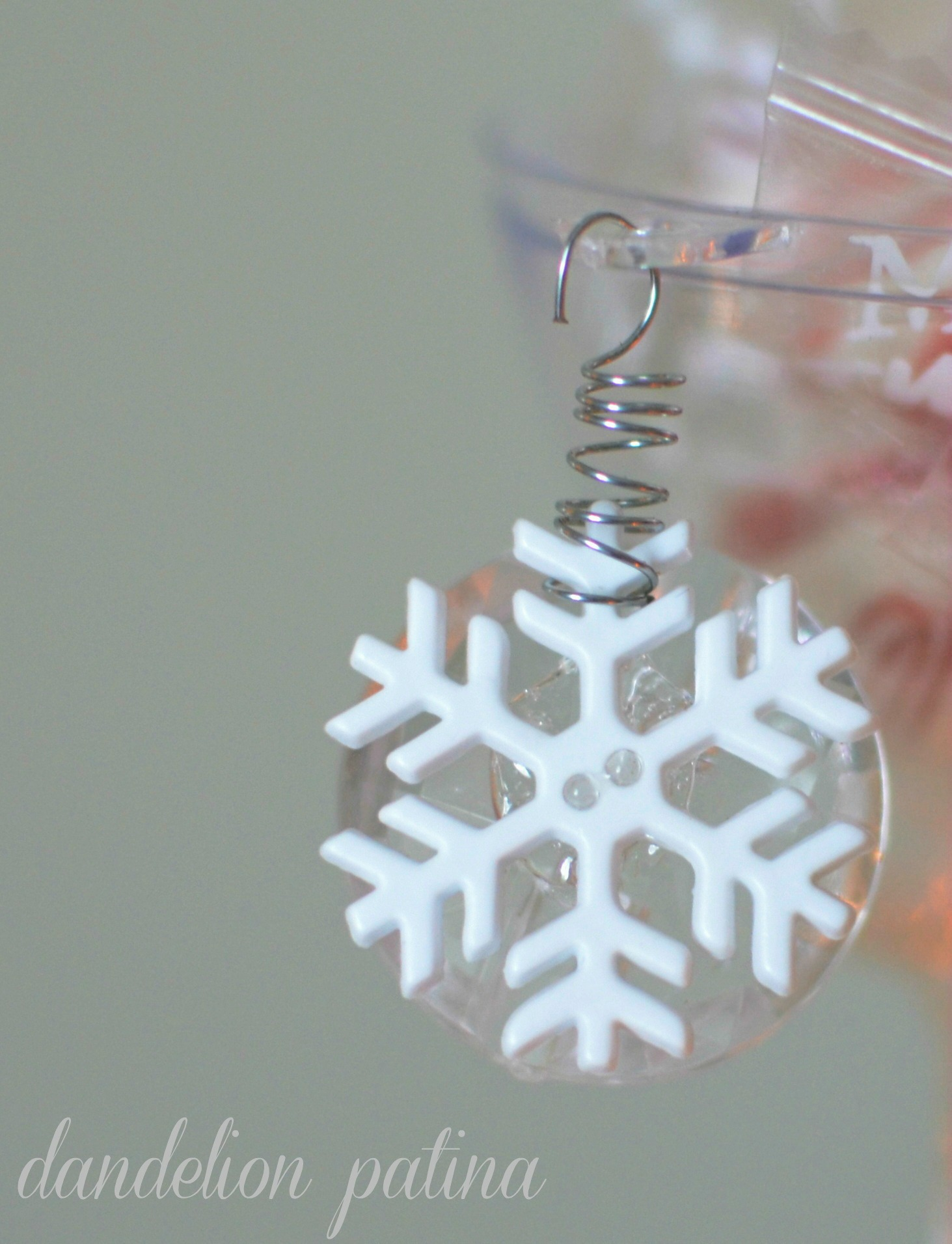 snowflake charm for candy bowls