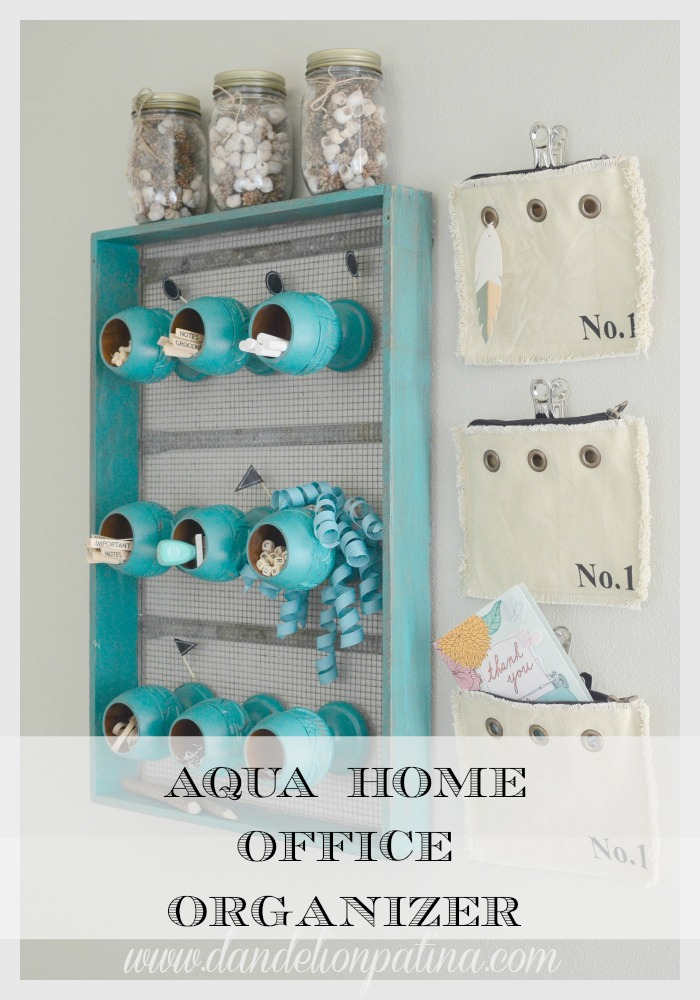 aqua home office organizer