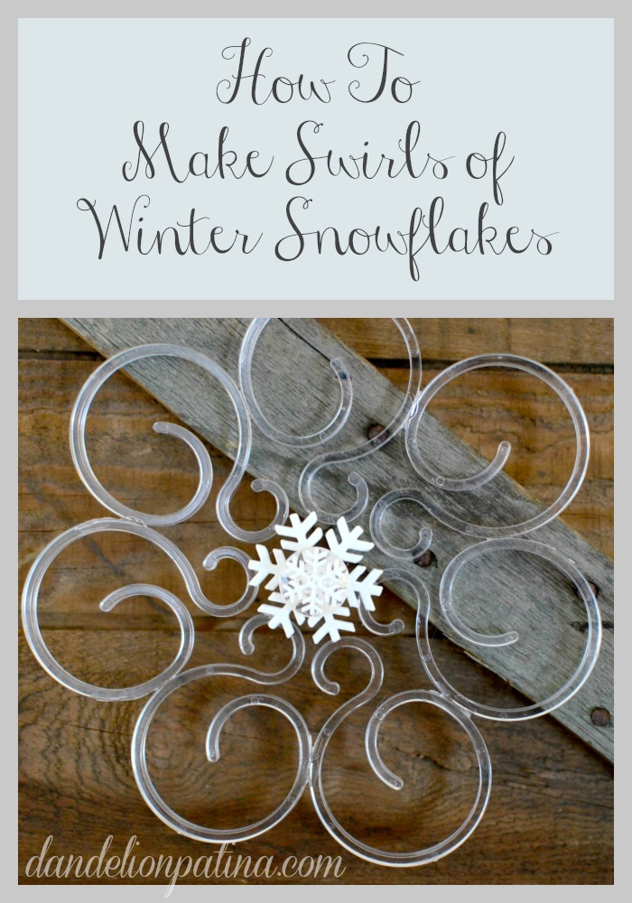 how to make swirl snowflakes