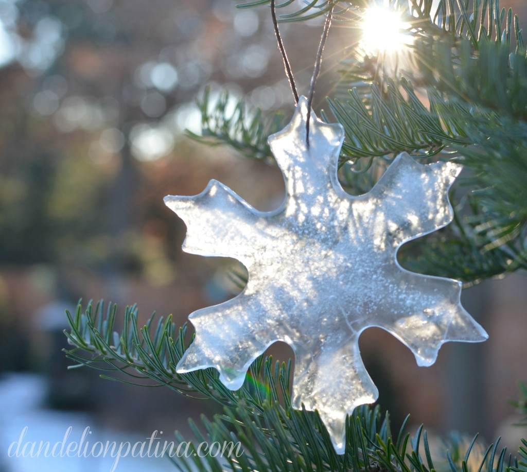 snowflake ice ornament
