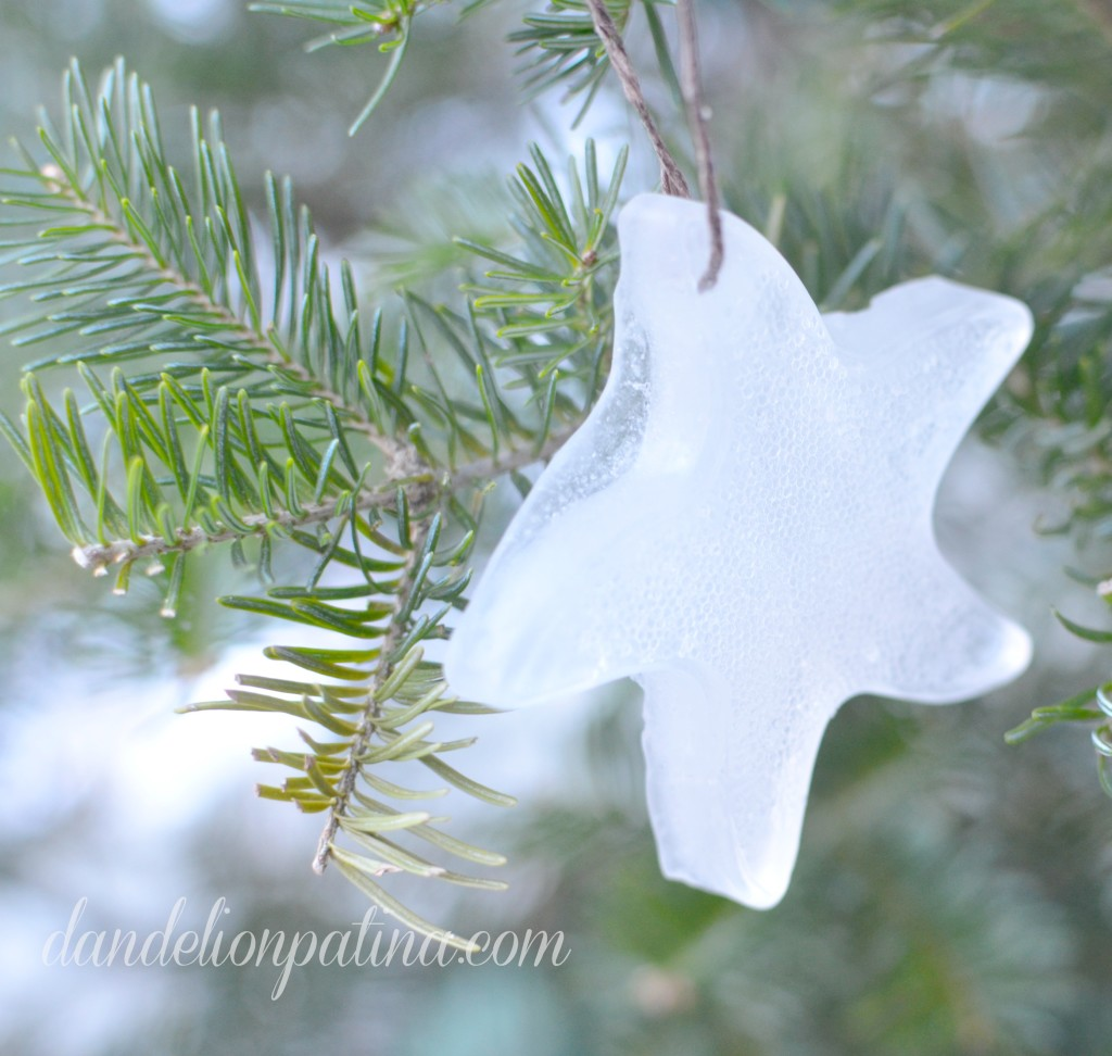 starfish ice ornament