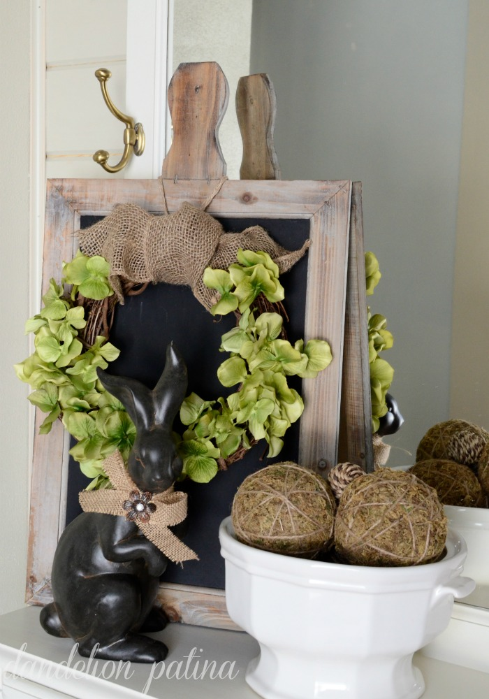 tutorial spring rustic hydrangea wreath
