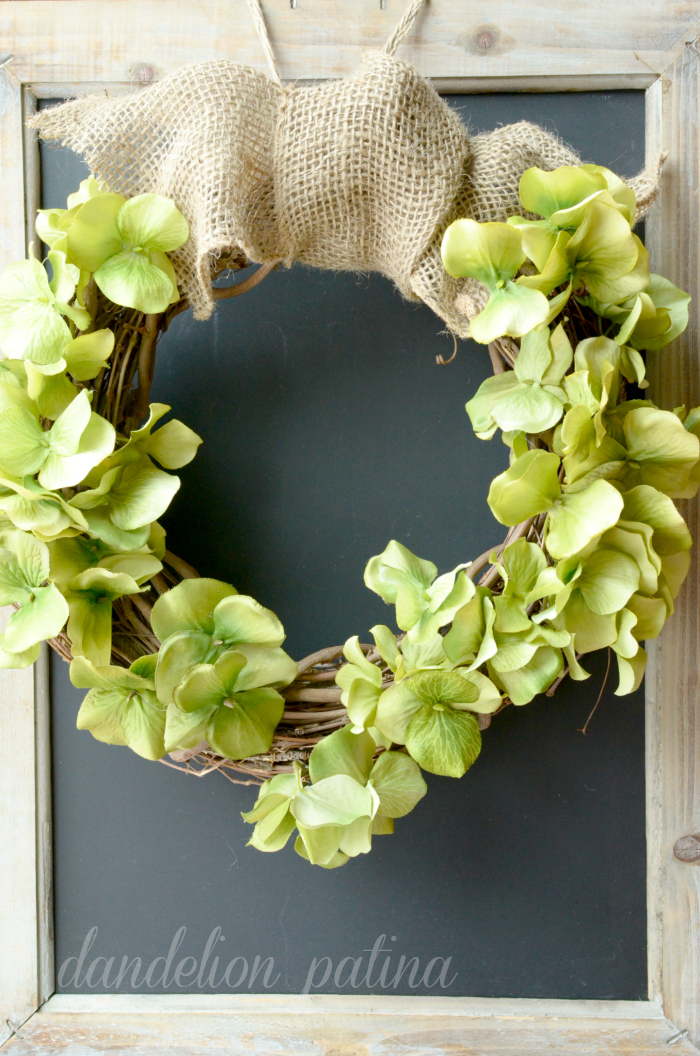wreath tutorial hydrangea