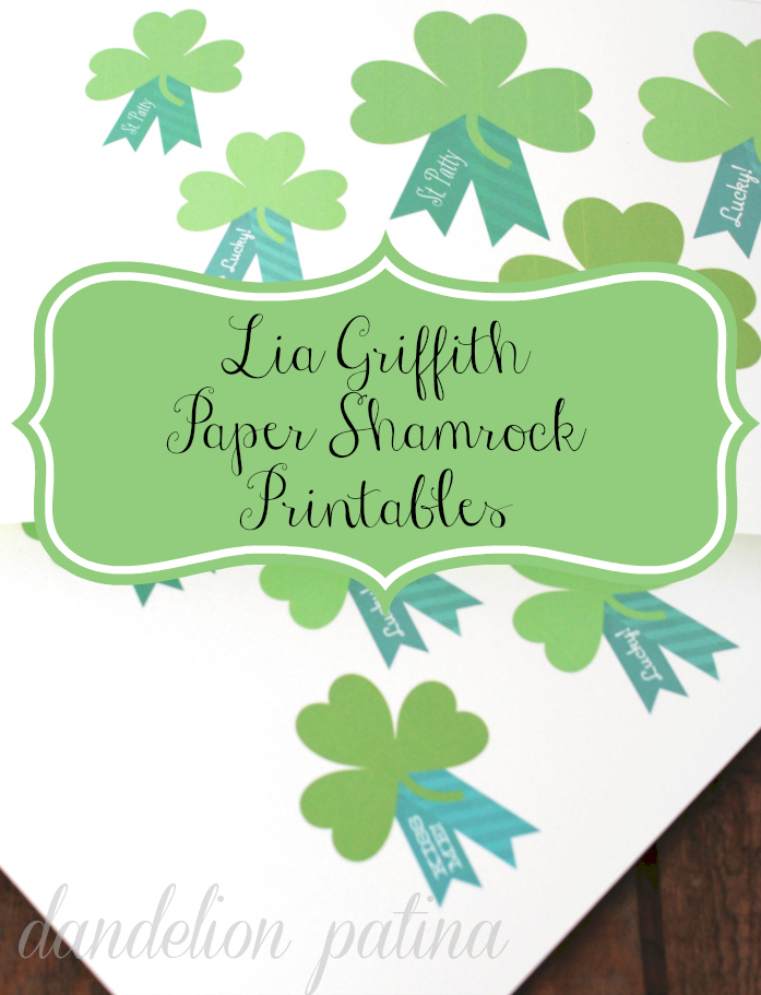 shamrock paper printables Lia Griffith