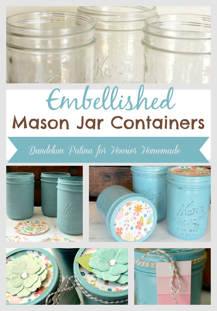 Chalk paint mason jars