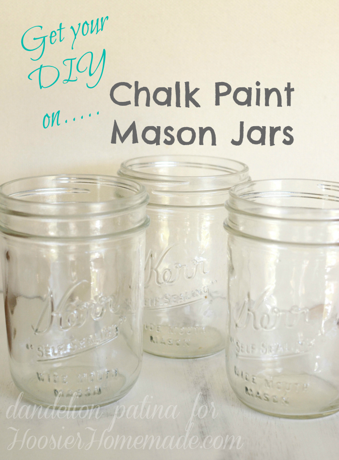 chalk paint mason jars DIY