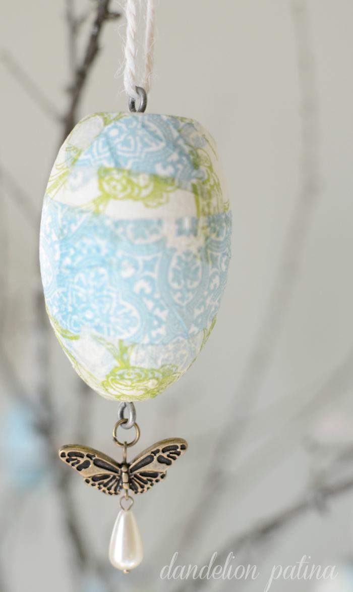 paper napkin decoupage eggs