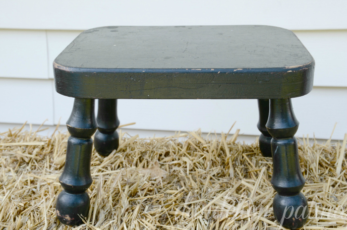 CeCe Caldwell wooden stool pre transformation