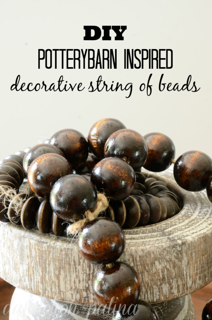 Create your own Potterybarn inspired decorative string of beads in just a few easy steps. By using this do-it-yourself method you can customize the string of beads to fit your personal decor for a fraction of the cost.