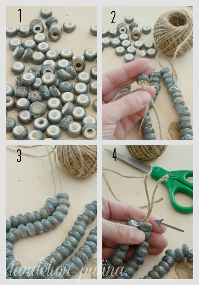 Create your own Potterybarn Inspired decorative string of beads in just a few simple steps. Dandelion Patina
