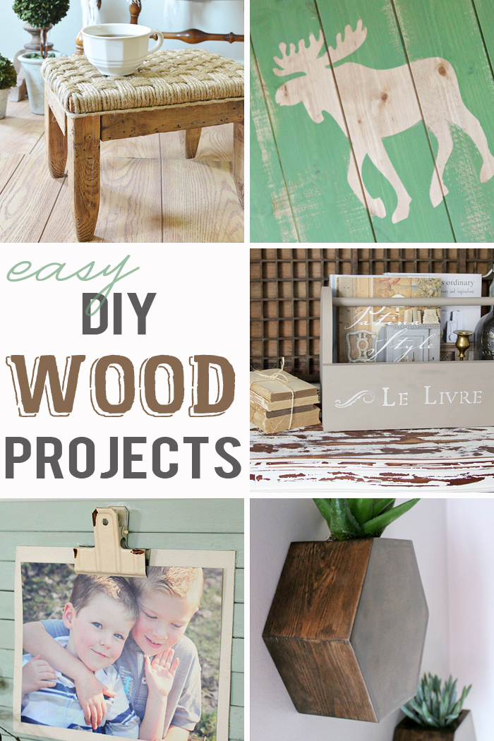 Want to try your hand at a wood DIY? These simple but fabulous rustic pieces will have you transforming in no time!