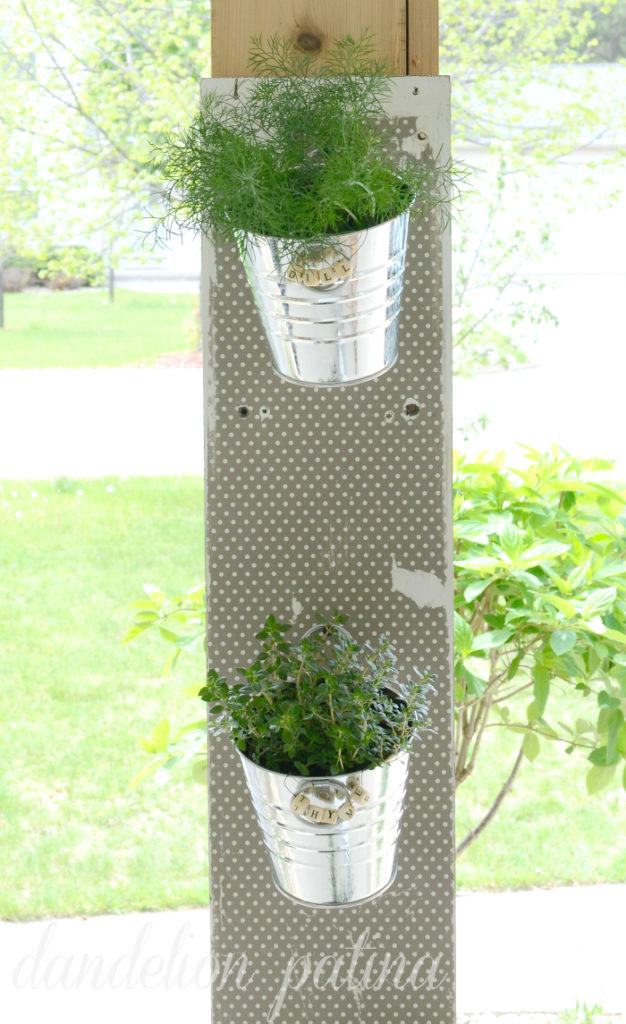 DIY hanging herb garden by dandelion patina created for under $10