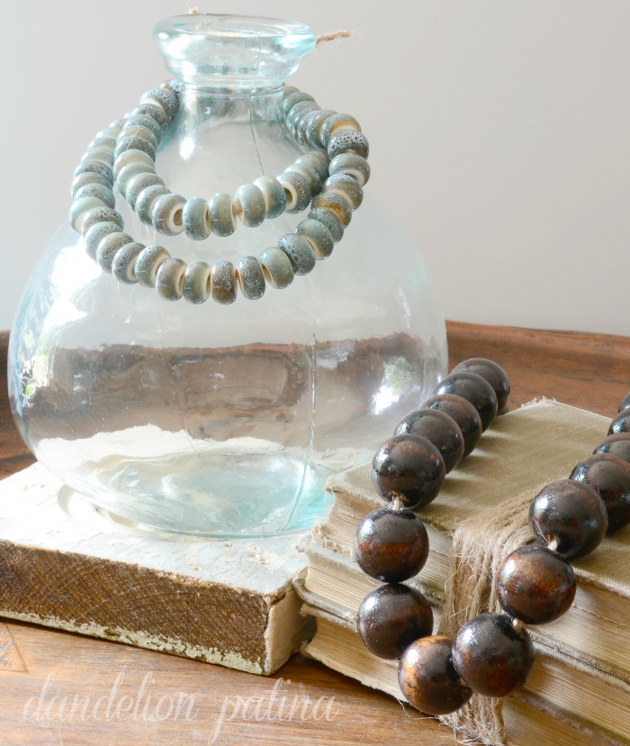 Create your very own DIY Potterybarn Inspired string of beads to decorate your home with on a budget by dandelion patina