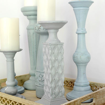 Before And After Painted Candle Holders