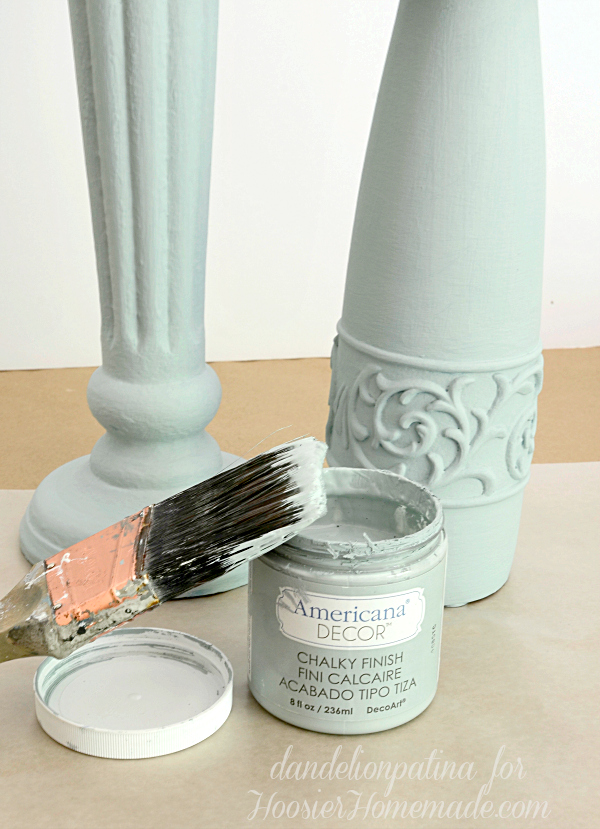 Americana Chalky Finish paints and creme wax