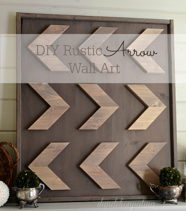 DIY rustic arrow wall art using Homestead House Milk Paint as a stain. It is super easy and I love how you can control the depth of the color. Just mix with water!